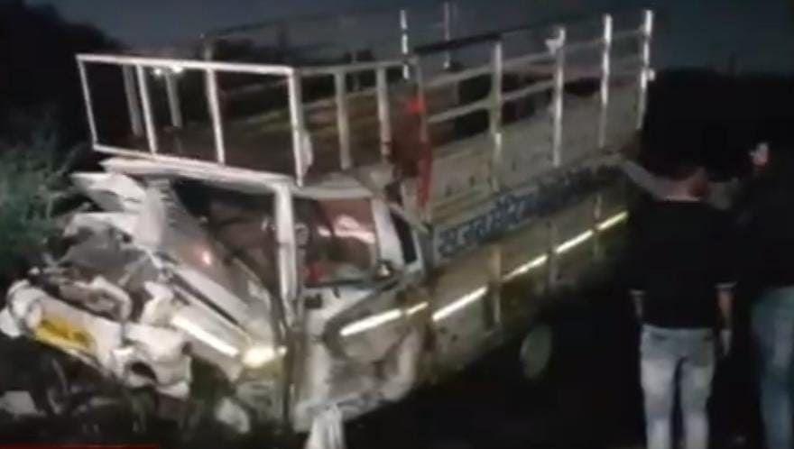 Damaged vehicle