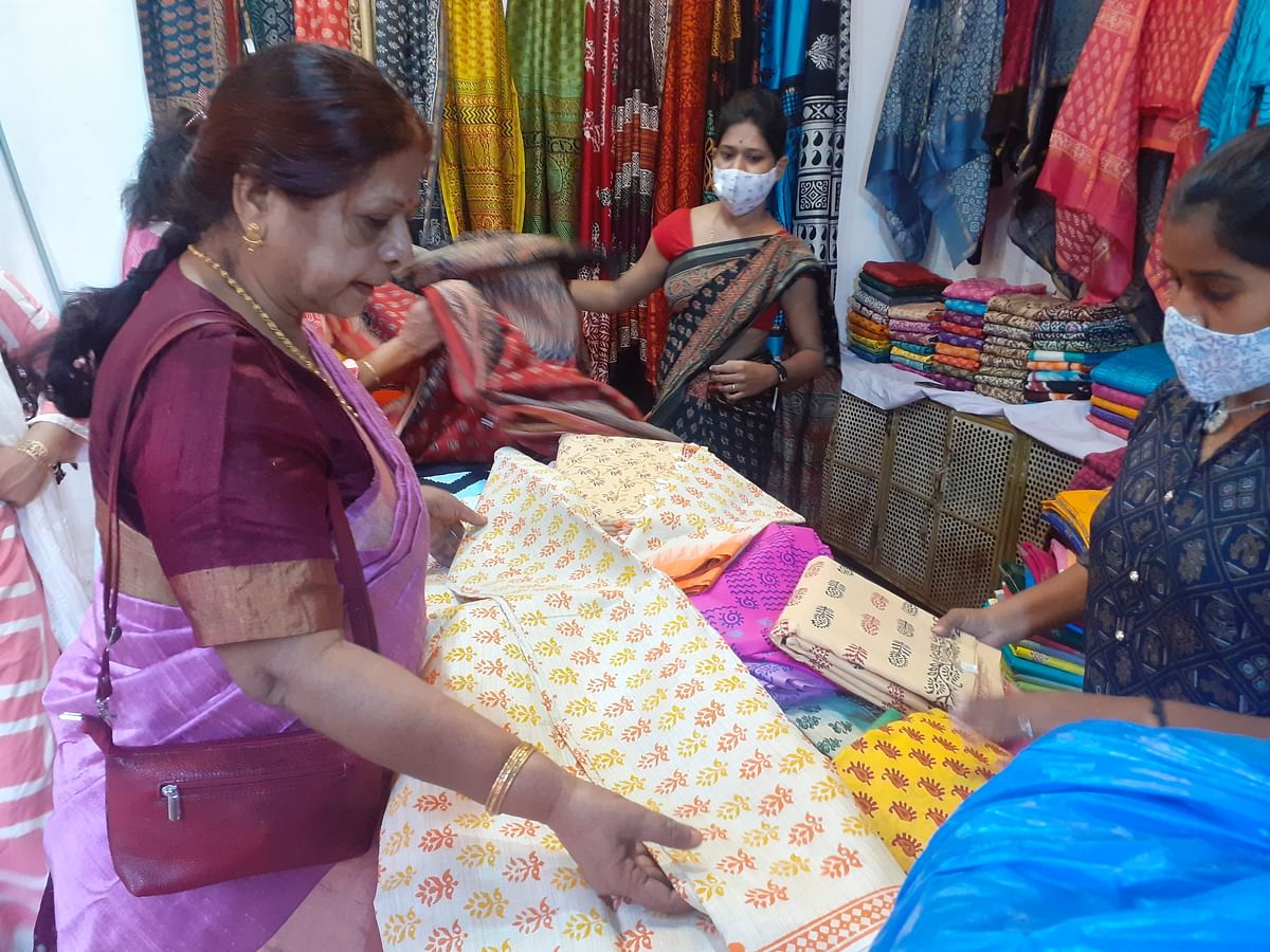 Bhopal: Women artisans showcase their work at all-women handicrafts and handlooms expo-cum-sale