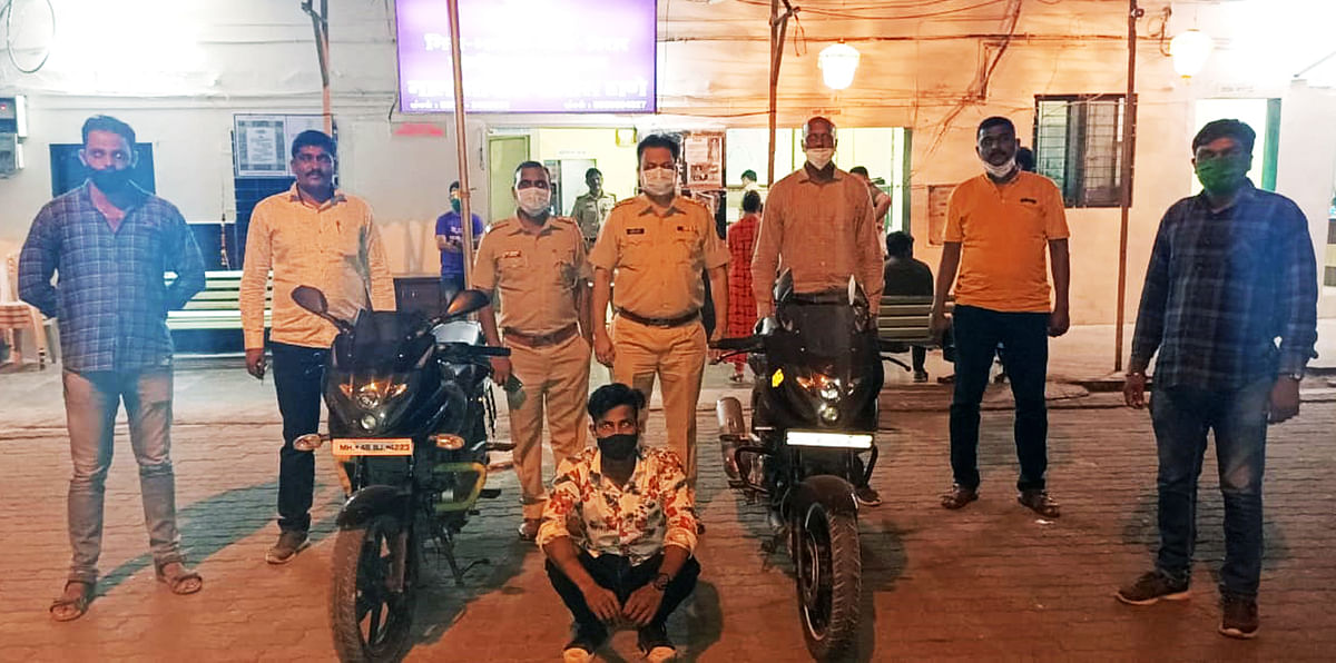 MBVV: E-Challan for breaking traffic rule leads to arrest of bike thief