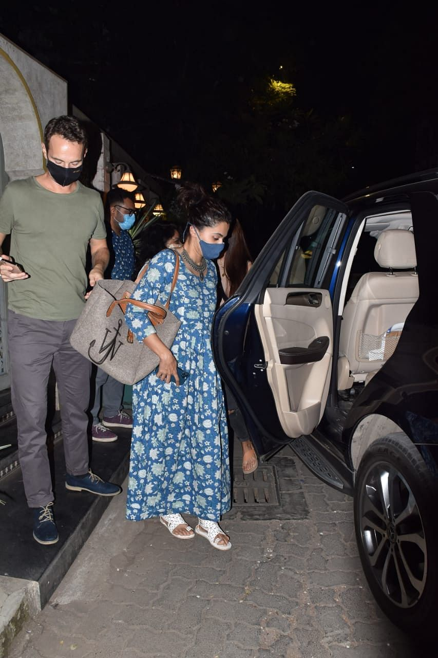Celebrity spotting: Ranbir Kapoor visits YRF office; Taapsee Pannu steps out for dinner date with rumoured beau Mathias Boe