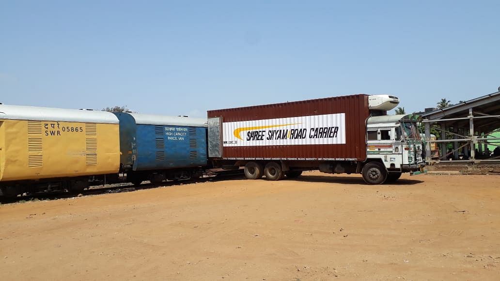 309 parcel cargo express trains run on South Western Railway carrying essentials