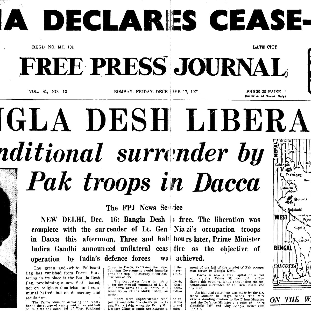 Vijay Diwas: How FPJ covered surrender of Pak troops, Bangladesh liberation in 1971