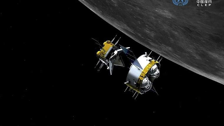 Chinese capsule with moon rocks begins return to Earth