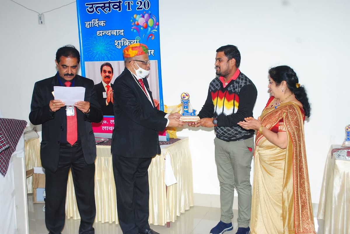 Bhopal: President of Lions Club feted as Best Treasurer Award
