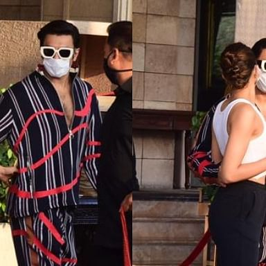 Watch: Doting husband Ranveer Singh sees off Deepika Padukone as she leaves for Alibaug with Sidhant Chaturvedi