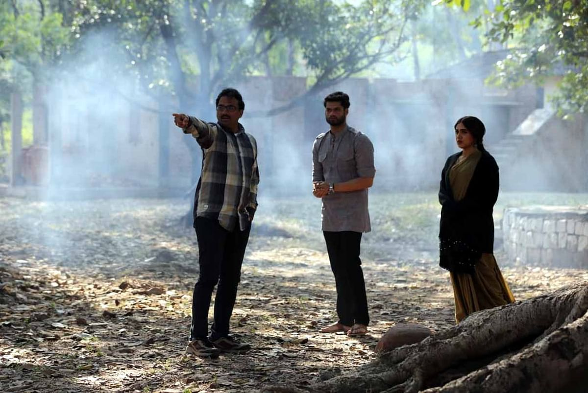 A scene from a film being shot in the state capital, Bhopal.