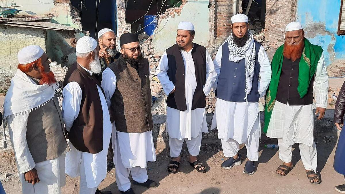 Jamiyat-ulema-e-Hind Madhya Pradesh delegation visiting Begam Bagh
