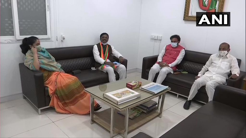 Vijayashanti joined the BJP in the presence of senior BJP leader & MoS G Kishan Reddy