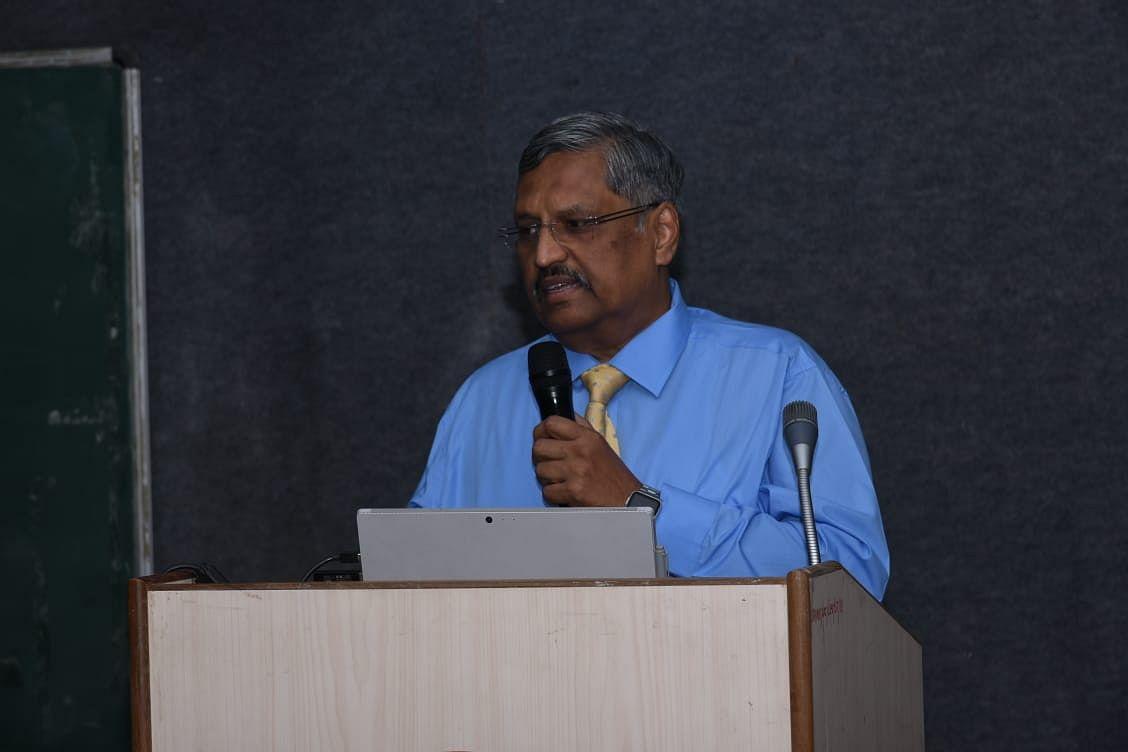 Dr Acharya addressing webinar
