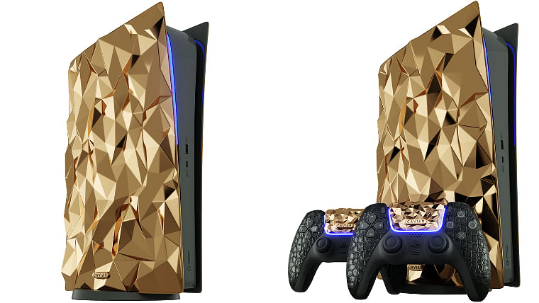 Caviar unveils PlayStation 5 Golden Rock Edition made of 18-carat gold and crocodile leather
