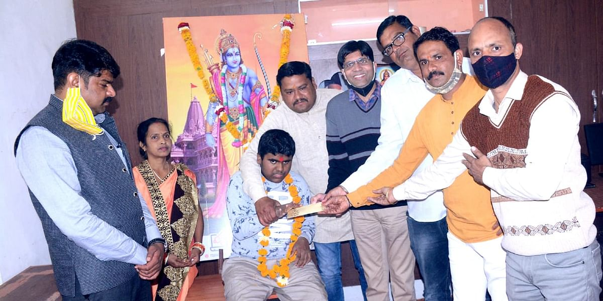 Tanmay donating money for temple construction in Ayodhya