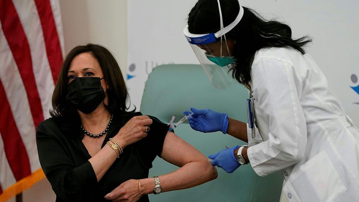 'It is safe': VP-elect Kamala Harris receives COVID-19 vaccine