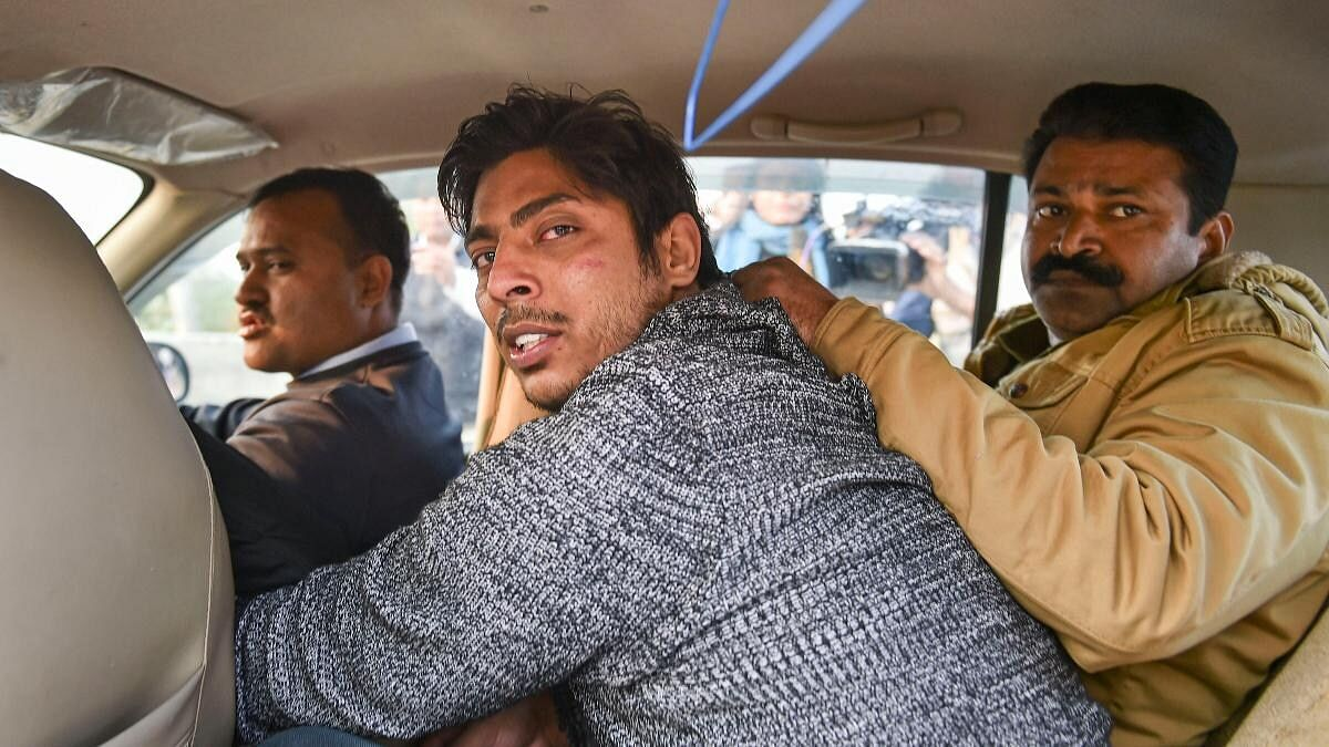 Kapil Gujjar being apprehended by the police after he fired a gun at Delhi's Shaheen Bagh, back in February this year