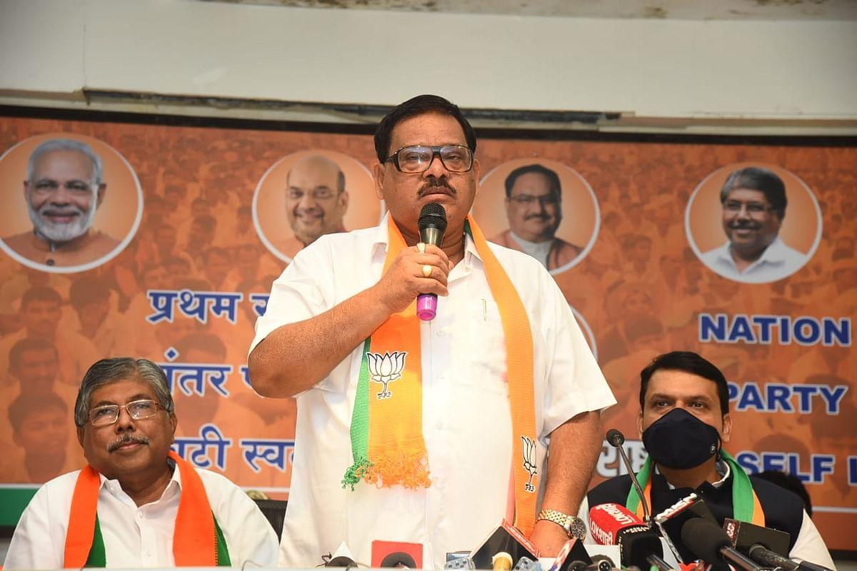 In Pictures: Former Nashik MLA Balasaheb Sanap returns to BJP