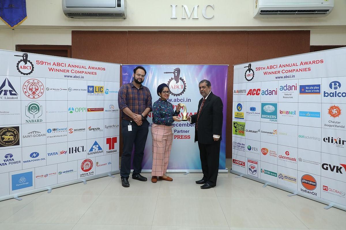 Tata Power Company Ltd. wins an award