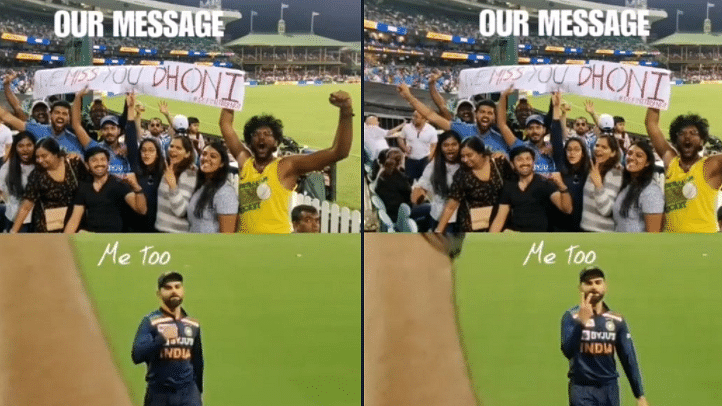 Watch: Virat Kohli's reaction to 'Miss you Dhoni' banner during Ind vs Aus 2nd T20I