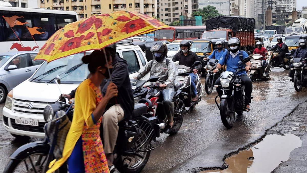 In Pics: Rain lashes parts of Mumbai, scenes from the city
