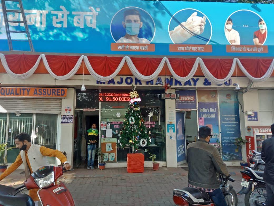 Bhopal: Petrol-pump Xmas decoration raises ire of Hindu customer