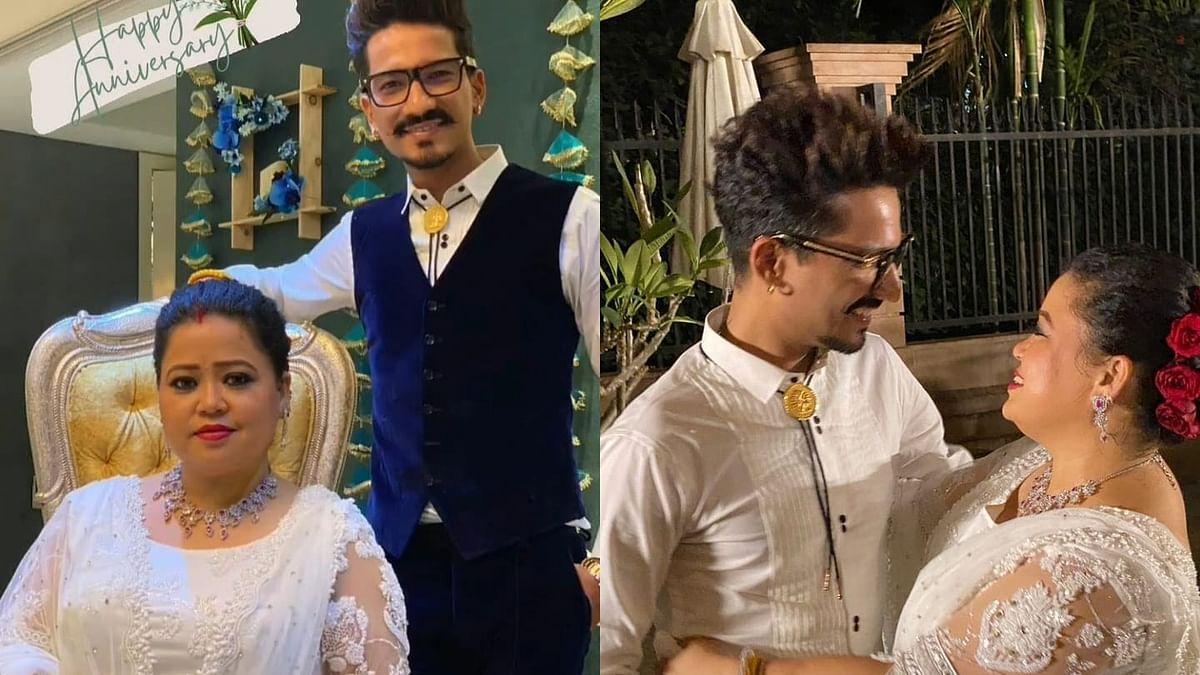 Watch: Amid fresh notice in drug case, constant trolling, Bharti Singh attends Aditya Narayan's wedding reception