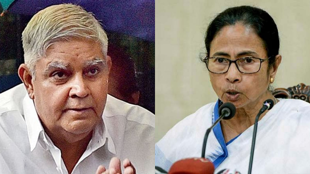 West Bengal governor Jagdeep Dhankar (L) has often engaged in a verbal spat against the state administration led by chief minister Mamata Banerjee (R)