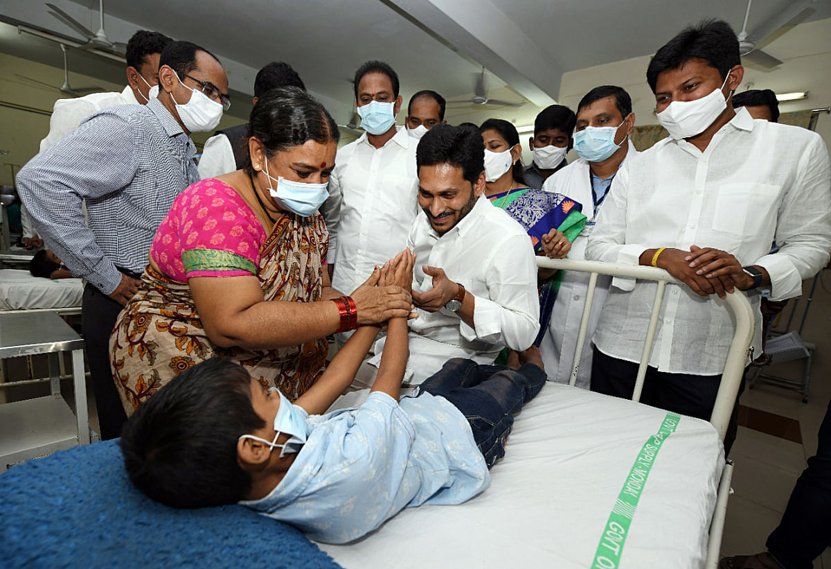 CM YS Jaganmohan Reddy visited Eluru Government Hospital to review the situation where hundreds have been admitted