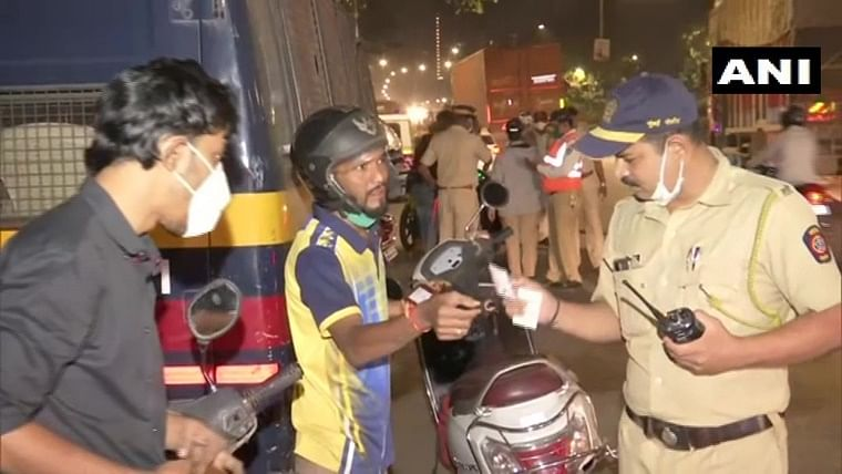 Mumbai: Police conduct checks at various locations as part of night curfew; Maha CM asks state machinery to stay alert