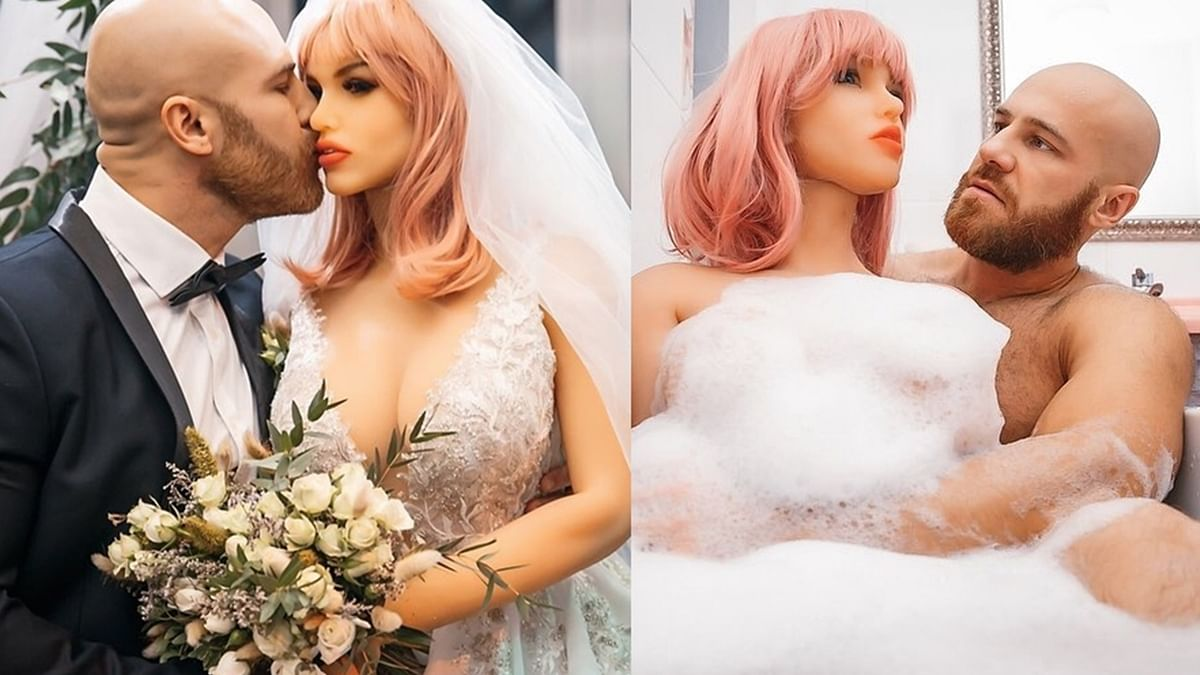 Kazakhstani bodybuilder marries sex doll after 18 months of relationship