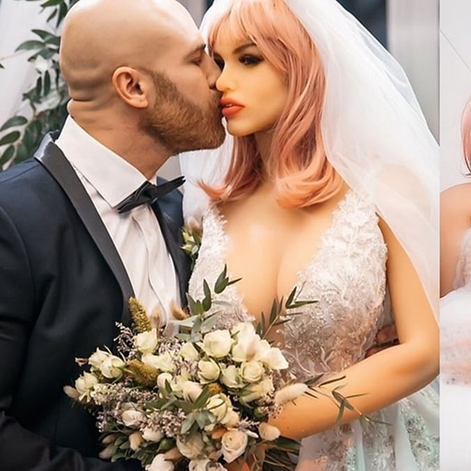 Kazakhstani bodybuilder marries sex doll after 18 months of relationship