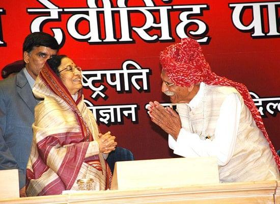 Gulati with then President Pratibha Patil.