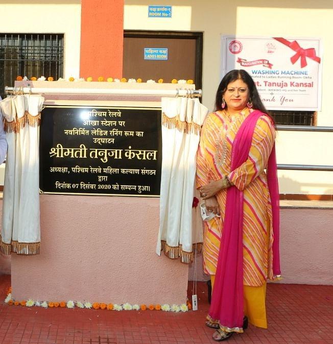 Western Railway Women's Welfare Organization President inaugurates ladies running room at Okha & applauds Naaree Shakti