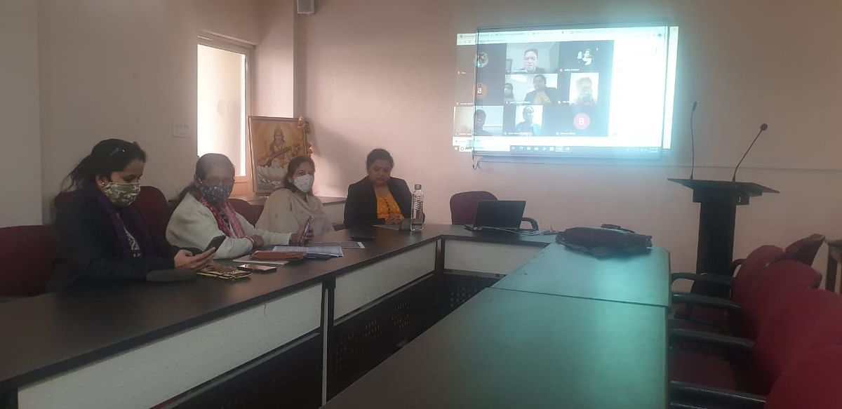 "Indore: Webinar on ""Business operation and Tax Management"" held at DAVV"