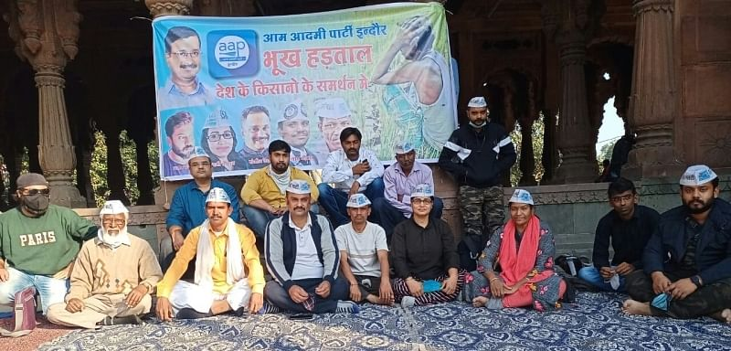 Farmers Protest: Six AAP activists in Madhya Pradesh go on hunger strike