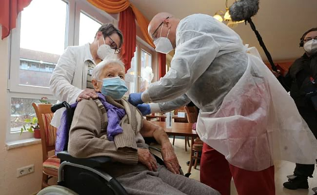 A 101-year-old German national was the first to get the vaccine