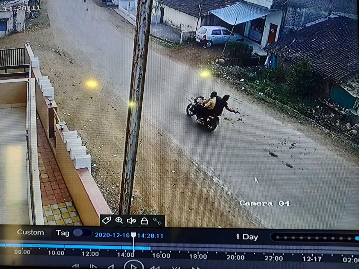 CCTV clip of robbers