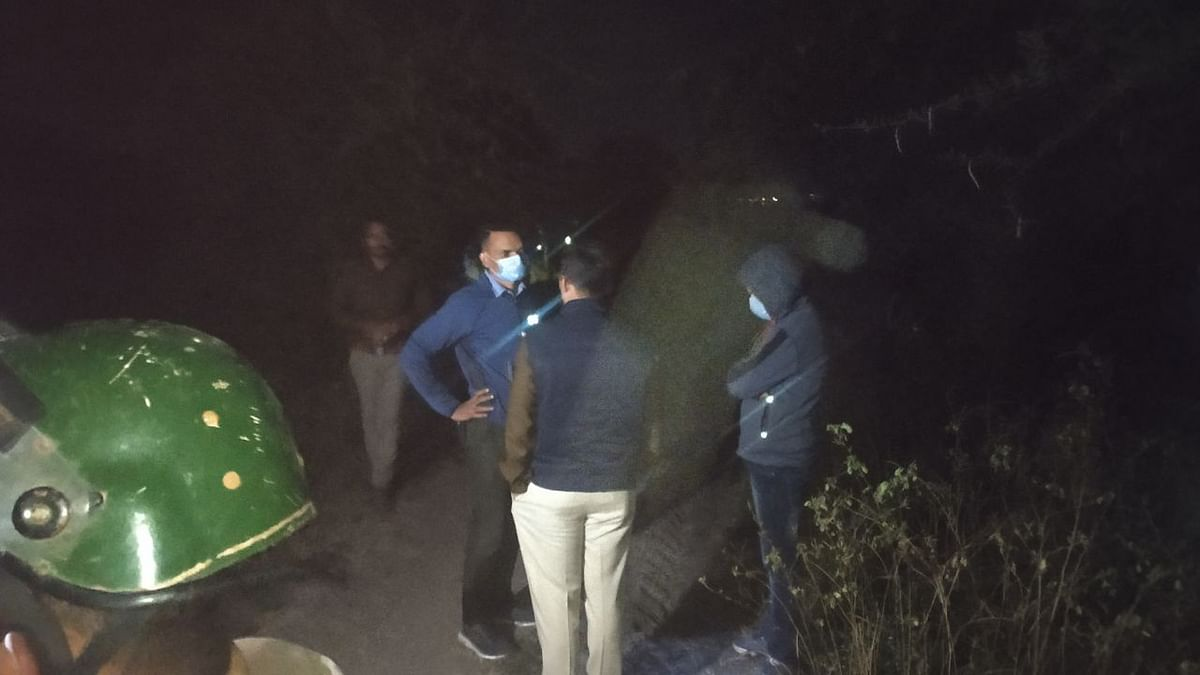 Police top officials at encounter site on Thursday late night