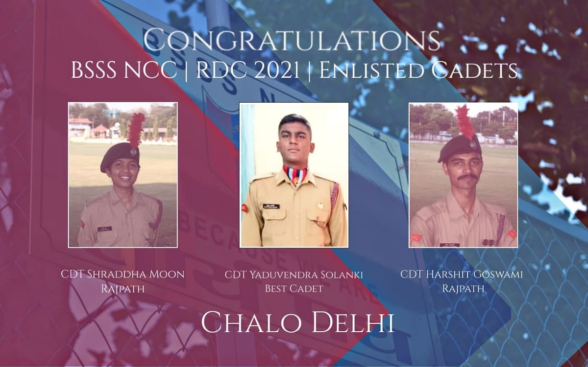 Madhya Pradesh: Three NCC cadets of Bhopal School of Social Science selected for Republic Day parade to be held in New Delhi