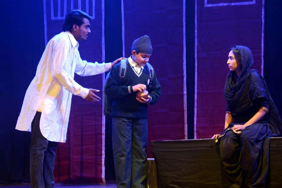 Bhopal: Play 'Jallianwala Bagh Se' showing the sacrifice of Bhagat Singh, Sukhdev and Rajguru staged at Saheed Bhavan