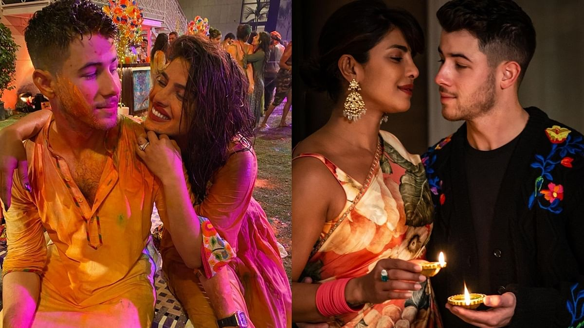 Priyanka Chopra-Nick Jonas' Second Wedding Anniversary: From Holi to Diwali - National Jiju in pictures