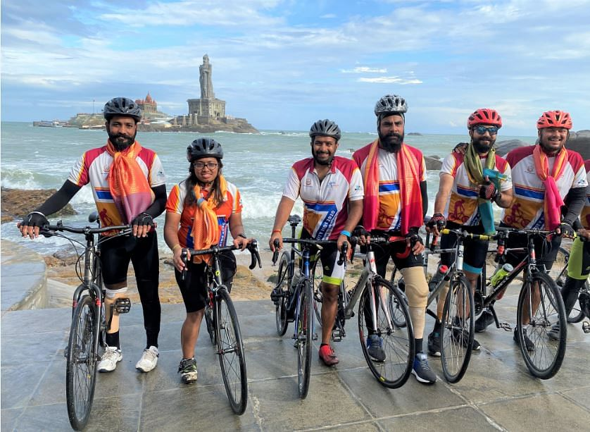The proud cyclists