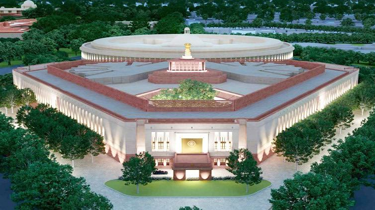 The estimated cost of the new Parliament building is Rs 970 crore and the construction is expected to be completed by October 2022.