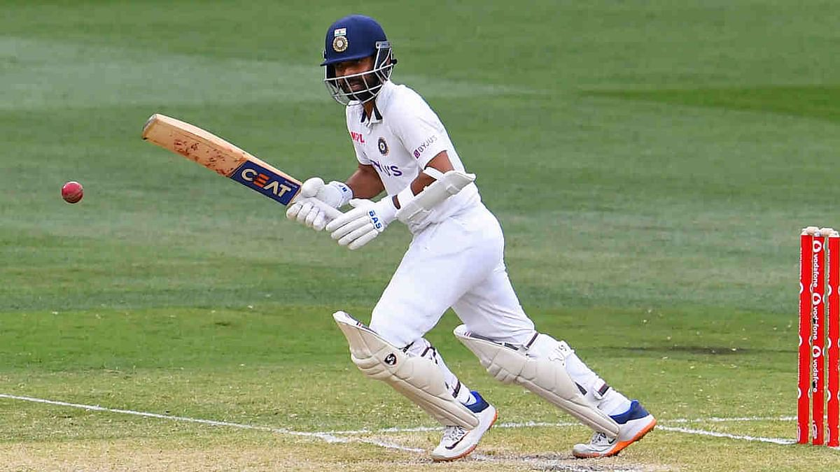 Ajinkya Rahane steers a ball away from the Australian attack on the second day of the second cricket Test match between Australia and India played at the MCG in Melbourne on December 27, 2020