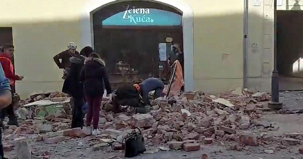 Magnitude 6 3 Earthquake Hits Croatia Epicentre Near Capital Zagreb