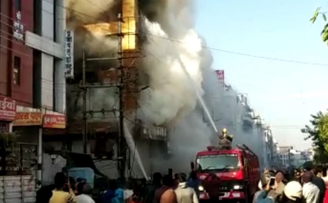 Fire in the building in Indore