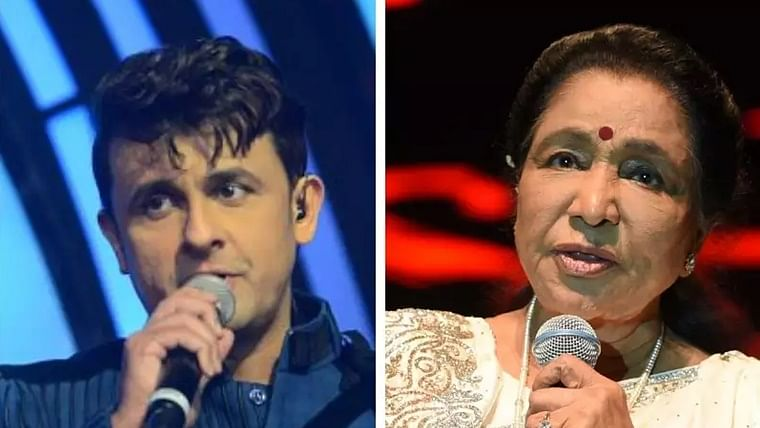 Sonu Nigam and Asha Bhosle