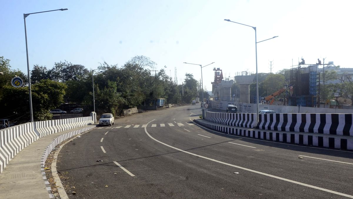 The newly constructed ROB at the Subhash Nagar railway crossing in Bhopal.