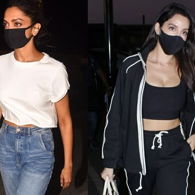 In Pics: Deepika Padukone shows how to wear basics right; Nora Fatehi turns heads with all-black airport ensemble