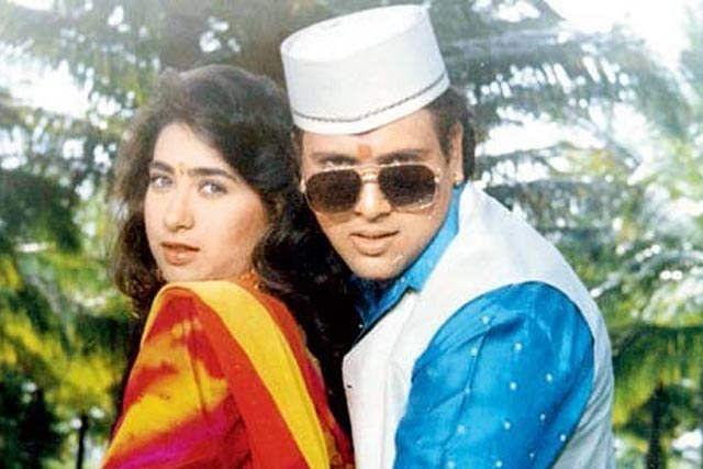 Govinda and Karisma Kapoor in Raja Babu