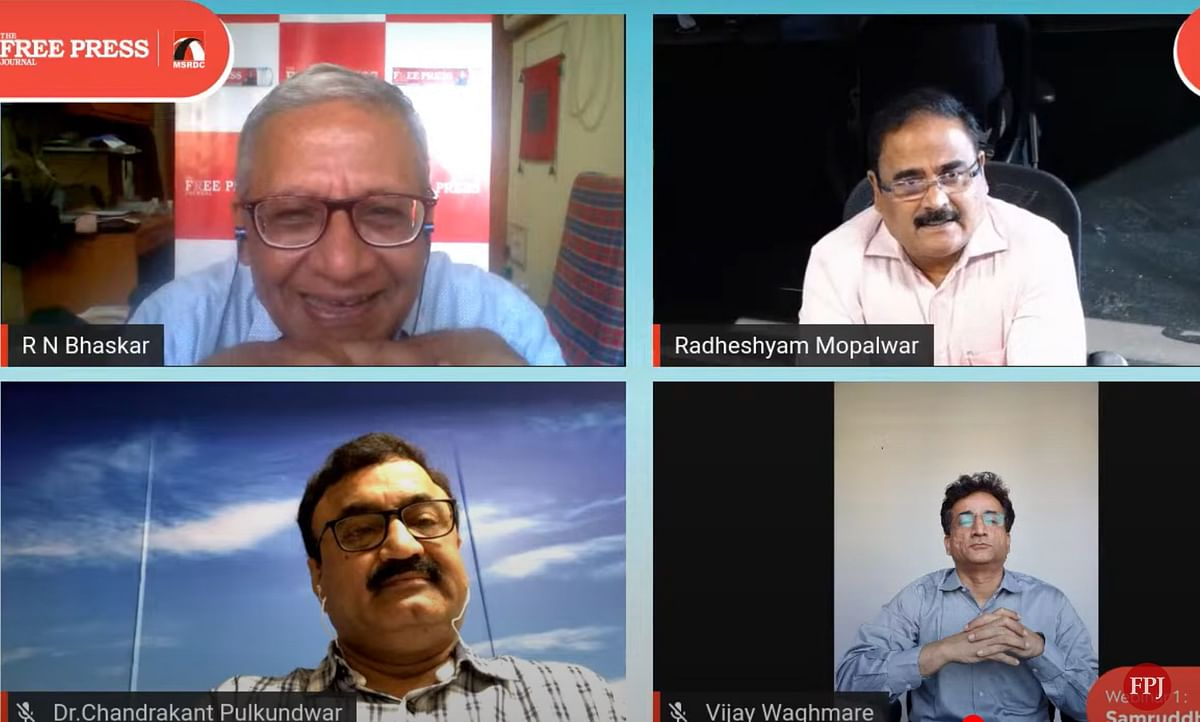 Screenshot of the webinar— The changing contours of Maharashtra