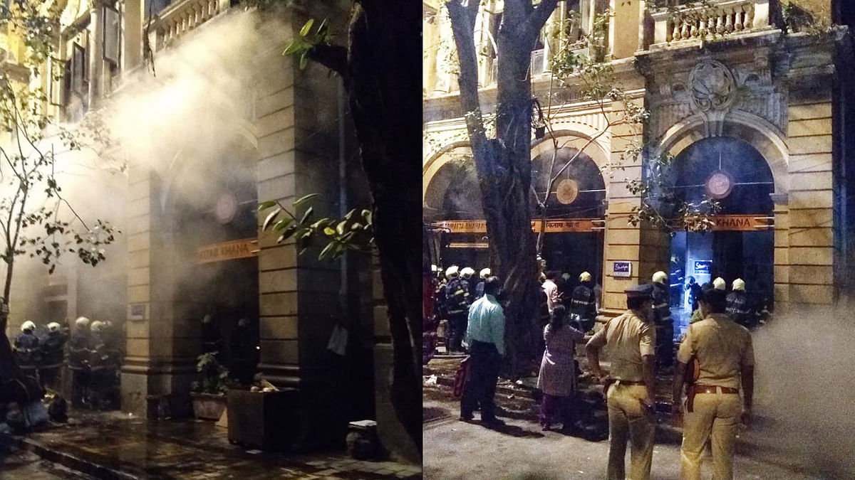 Mumbai: Fire breaks out at iconic Kitab Khana bookstore, later doused