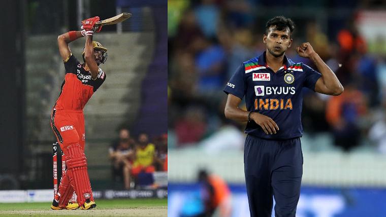 Devdutt Padikkal (L), T Natarajan (R)